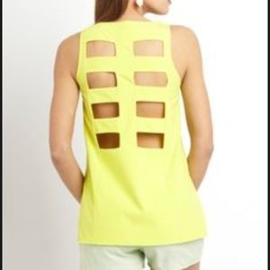 Ark&Co Yellow Blouse with Back Cutouts